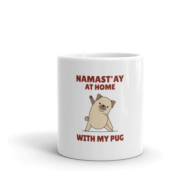 Namast'ay at Home with my Pug Mug-mug-Baxter & Bella