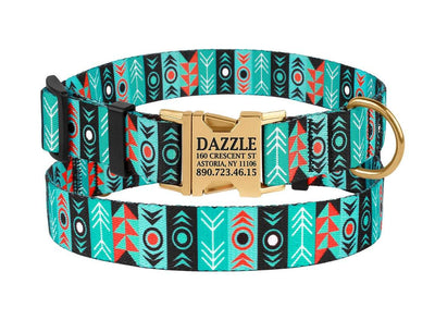 PupID Handmade Personalized Dog Collar-collar-Baxter & Bella