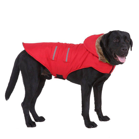 Big Dog Raincoat with Hood - Waterproof Dog Coat