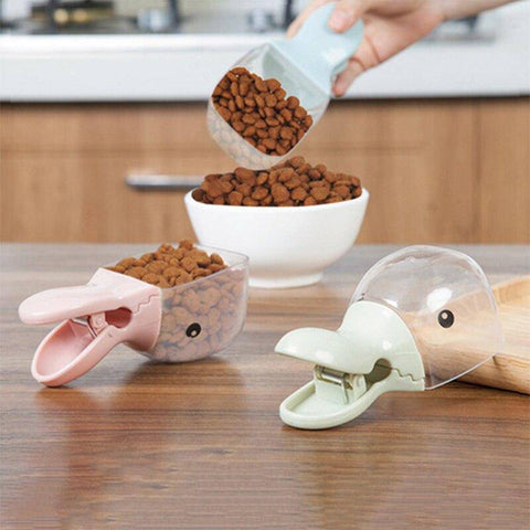 Pet Food Measuring Cup & Sealing Clip-pet food cup-Baxter & Bella