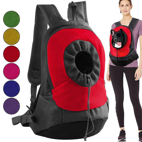 Dog Carrier Breathable Mesh Chest Bag and Backpack-pet carrier-Baxter & Bella