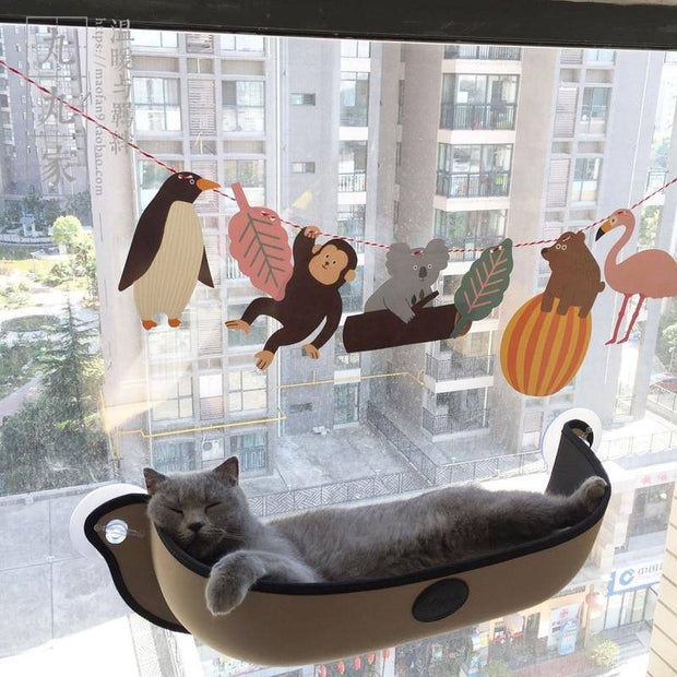 Cat Window Perch - Cat Window Seat Bed-cat bed-Baxter & Bella
