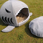 Shark Bed for Cats and Dogs-pet bed-Baxter & Bella