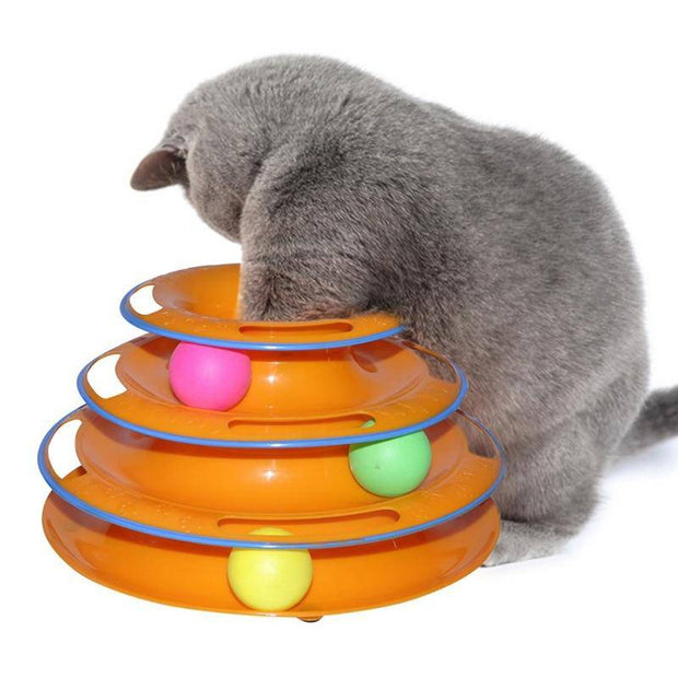 Cat Ball Track Tower Interactive Amusement Plate Toy-cat toy-Baxter & Bella