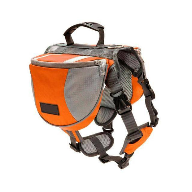 Dog Backpack Harness with Reflective Saddle Packs-leash-Baxter & Bella