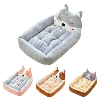 Cute Corgi Head Soft Dog Bed - Small to Large-pet bed-Baxter & Bella