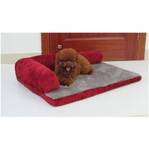 L-Chaise Partial Bolster Dog Bed-dog bed-Baxter & Bella