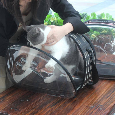Transparent Travel Pet Carrier Shoulder Bag-pet carrier-Baxter & Bella