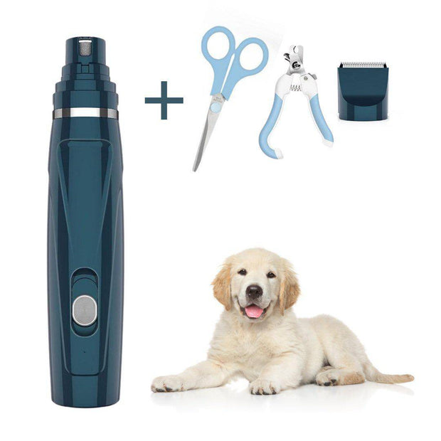 GentlePaws™ Quiet Nail Grinder and Hair Trimmer for Dogs 2 in 1 Complete Set-nail grinder-Baxter's Petshop