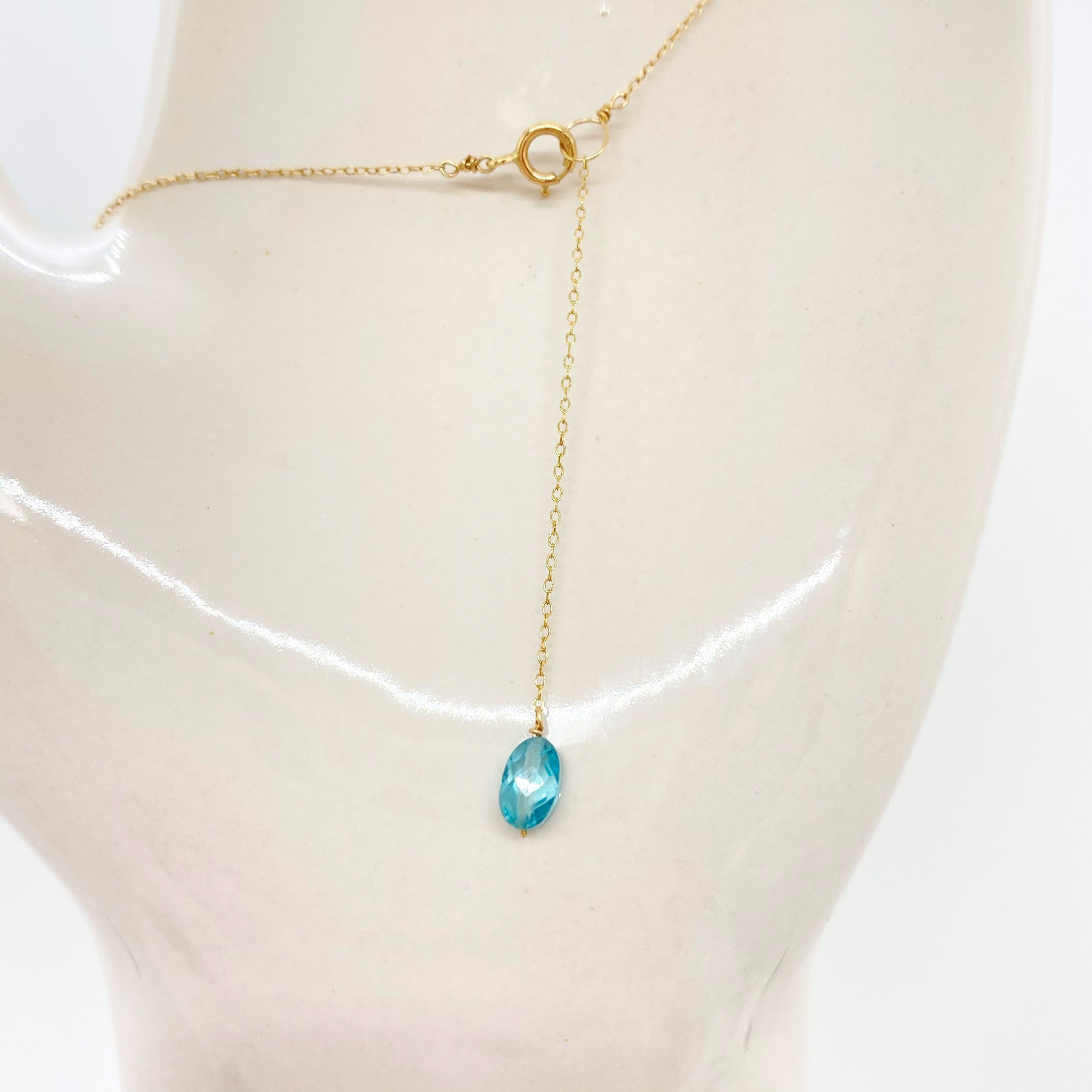 14k Gold Chain Necklace w/ Turquoise, Peridot & Antique Italian Bead