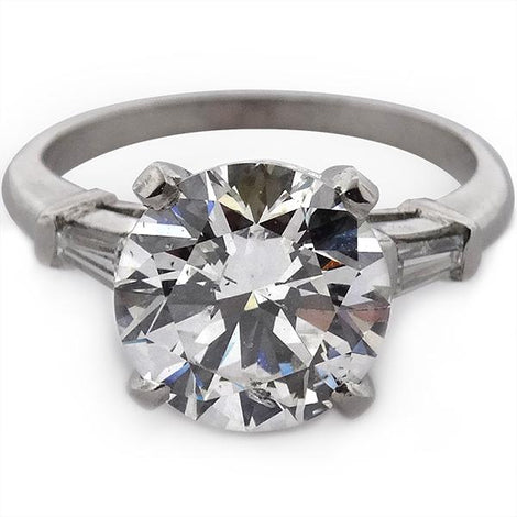 Platinum Round Brilliant Engagement Ring
