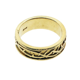 14KT Y/G Crown of Thorns Ring