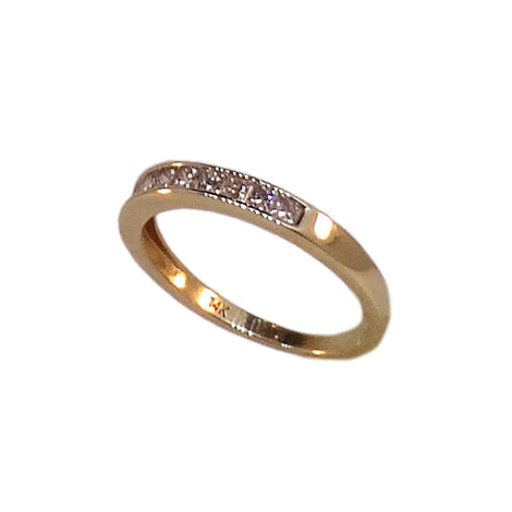 14KT Y/G Channel Set Diamond Ring
