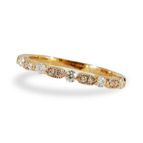 Rose Gold Diamond Sequence Ring