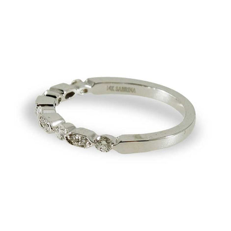 White Gold Diamond Sequence Ring
