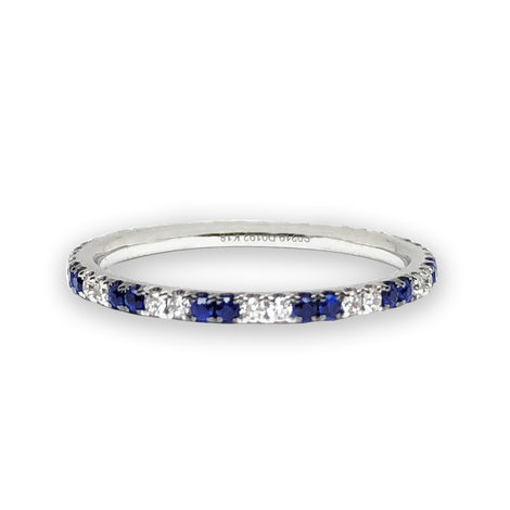 All Around Sapphire and Diamonds Ring