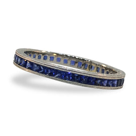 Princess Blue Sapphire Eternity Band by Jolie