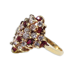 14 KY Diamond and ruby ring