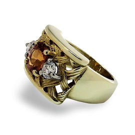 Gold Birdcage Style Ring