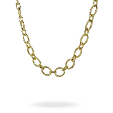 Kurtulan Gold O-Ring Chain Link Necklace