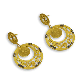 Kurtulan Circle Earrings