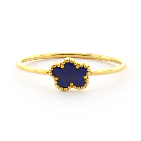 Yellow Gold Lapis Ring