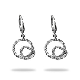 Heart in a Circle Diamond Earrings