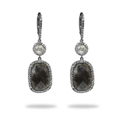 Grey & White Diamond Earrings