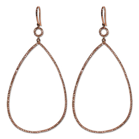 Rose Gold Diamond Teardrop Earrings