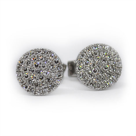 White Gold Diamond Circle Studs