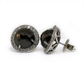 White Gold and Black DIamond Studs