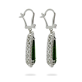 White Gold Tourmaline Earrings