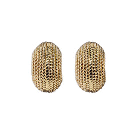 14KT Y/G Twisted Rope Earrings