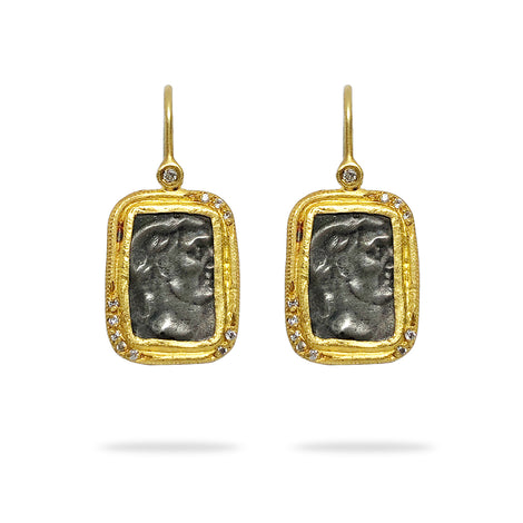 Kurtulan Roman Face Earrings