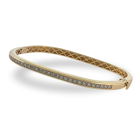 Curved Cuff Diamond Bracelet