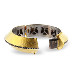Kurtulan Tapered Gold Cuff Bracelet