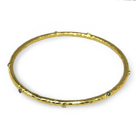 Kurtulan Hammered Yellow Gold Bangle
