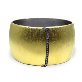 Kurtulan Yellow Gold Satin Finish Buckle Cuff