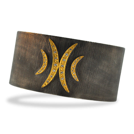 Kurtulan Silver Cuff with Crescent Moon