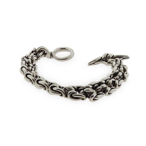 Silver Square Chain Link Bracelet