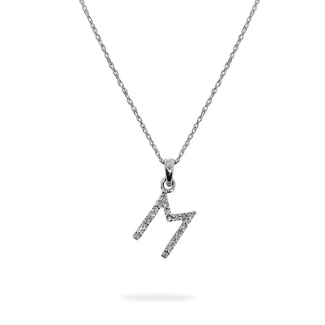 M Diamond Pendant
