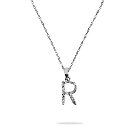 R Diamond Pendant