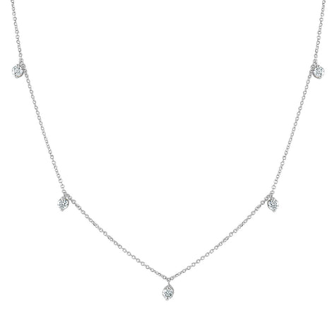 "White Gold and Diamond ""Tear Drop"" Necklace"