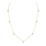 "Yellow Gold and Diamond ""Tear Drop"" Necklace"