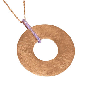 Circle Rose Gold Necklace