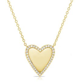 Sabrina All Around Diamond Heart Necklace
