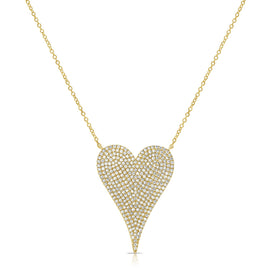 Sabrina Pavé Heart Necklace