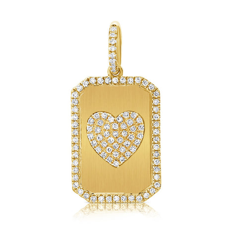 Sabrina Diamond Heart Dog Tag