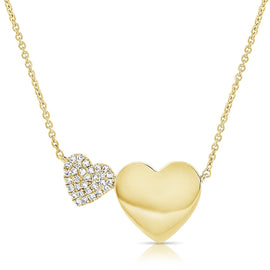 Sabrina Gold & Diamond Heart Necklace