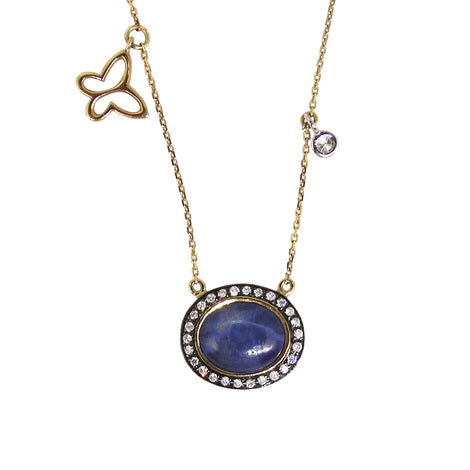 Blue Star Sapphire Necklace
